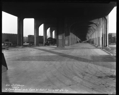 Street Improvement Photographs -- Box 34, Folder 32 (Eighth Street) -- negative, 1931-10-23