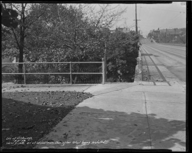 Street Improvement Photographs -- Box 34, Folder 33 (Eighth Street) -- negative, 1938-08-08