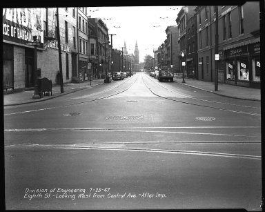 Street Improvement Photographs -- Box 34, Folder 34 (Eighth Street) -- negative, 1947-07-25