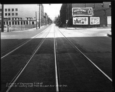 Street Improvement Photographs -- Box 34, Folder 34 (Eighth Street) -- negative, 1947-07-25