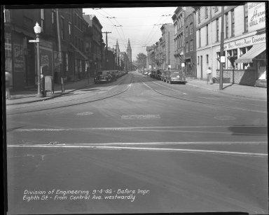 Street Improvement Photographs -- Box 34, Folder 34 (Eighth Street) -- negative, 1946-09-04