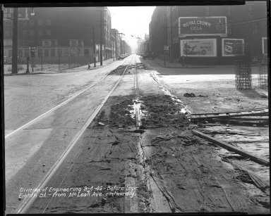 Street Improvement Photographs -- Box 34, Folder 34 (Eighth Street) -- negative, 1946-09-04