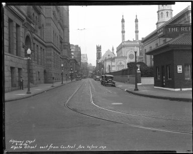 Street Improvement Photographs -- Box 34, Folder 36 (Eighth Street) -- negative, 1930-09-19