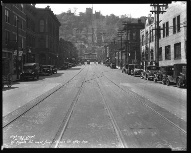 Street Improvement Photographs -- Box 34, Folder 36 (Eighth Street) -- negative, 1931-04-29