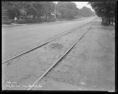 Street Improvement Photographs -- Box 34, Folder 39 (Erie Avenue) -- negative, 1927-07-02