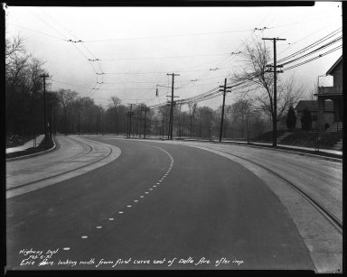 Street Improvement Photographs -- Box 34, Folder 40 (Erie Avenue) -- negative, 1931-02-06