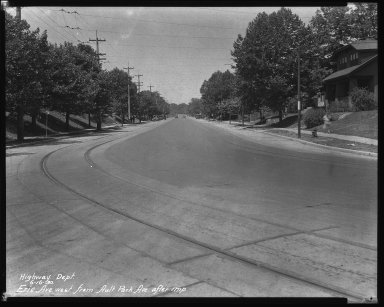 Street Improvement Photographs -- Box 34, Folder 40 (Erie Avenue) -- negative, 1930-06-16