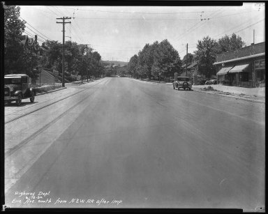 Street Improvement Photographs -- Box 34, Folder 41 (Erie Avenue) -- negative, 1930-06-16