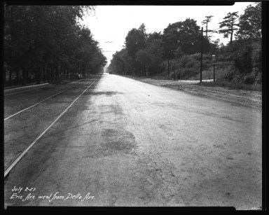 Street Improvement Photographs -- Box 34, Folder 42 (Erie Avenue) -- negative, 1927-07-02