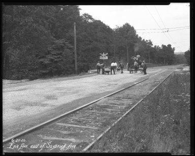 Street Improvement Photographs -- Box 34, Folder 44 (Erie Avenue) -- negative, 1926-06-25
