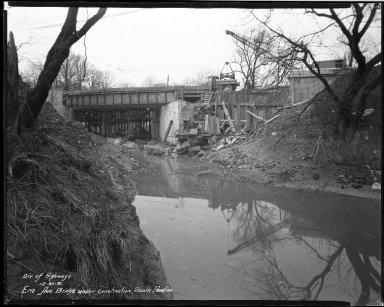Street Improvement Photographs -- Box 34, Folder 45 (Erie Avenue Bridge) -- negative, 1931-12-30