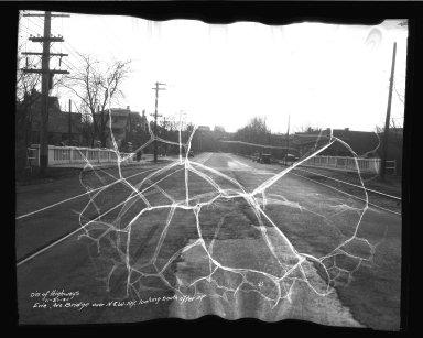 Street Improvement Photographs -- Box 34, Folder 46 (Erie Avenue Bridge) -- negative, 1934-11-27