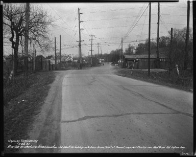 Street Improvement Photographs -- Box 34, Folder 49 (Erie Avenue) -- negative, 1941-03-26