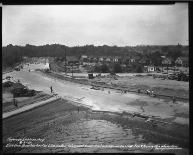 Street Improvement Photographs -- Box 34, Folder 52 (Erie Avenue) -- negative, 1942-08-03