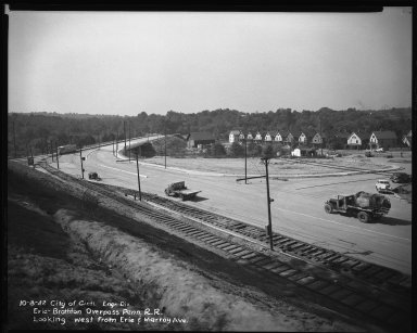 Street Improvement Photographs -- Box 34, Folder 54 (Erie Avenue) -- negative, 1942-10-08