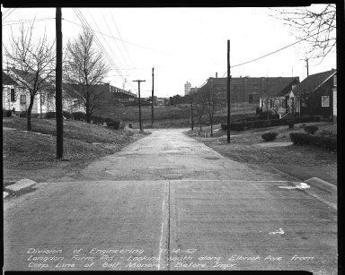 Street Improvement Photographs -- Box 35, Folder 02 (Elbrook Avenue) -- negative, 1952-11-14