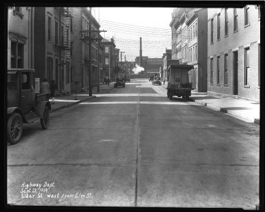 Street Improvement Photographs -- Box 35, Folder 03 (Elder Street) -- negative, 1929-09-23