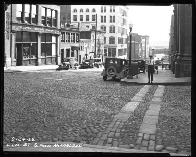 Street Improvement Photographs -- Box 35, Folder 04 (Elm Street) -- negative, 1926-09-24