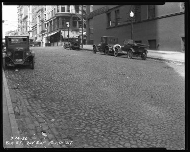 Street Improvement Photographs -- Box 35, Folder 04 (Elm Street) -- negative, 1926-09-24