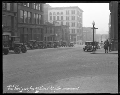 Street Improvement Photographs -- Box 35, Folder 05 (Elm Street) -- negative, 1927-01-06