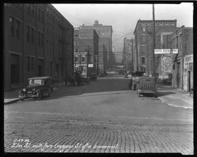 Street Improvement Photographs -- Box 35, Folder 05 (Elm Street) -- negative, 1926-11-23