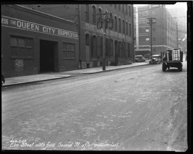 Street Improvement Photographs -- Box 35, Folder 05 (Elm Street) -- negative, 1927-01-06