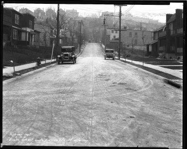 Street Improvement Photographs -- Box 35, Folder 08 (Enslin Street) -- negative, 1931-03-16