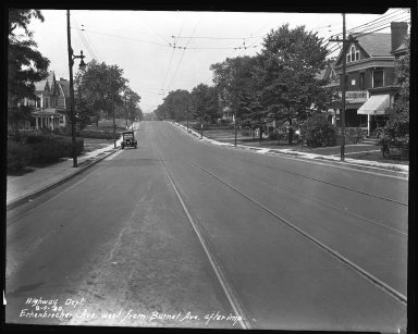 Street Improvement Photographs -- Box 35, Folder 09 (Erkenbrecher Avenue) -- negative, 1930-08-04