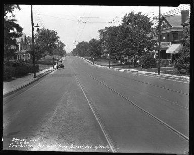 Street Improvement Photographs -- Box 35, Folder 09 (Erkenbrecher Avenue) -- negative, 1930-08-04