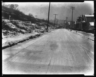 Street Improvement Photographs -- Box 35, Folder 10 (Esmond Street) -- negative, 1929-01-15