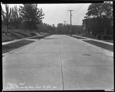Street Improvement Photographs -- Box 35, Folder 12 (Euclid Avenue) -- negative, 1930-08-04