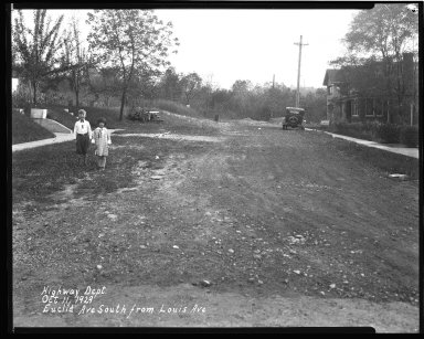 Street Improvement Photographs -- Box 35, Folder 12 (Euclid Avenue) -- negative, 1929-10-11