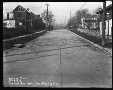 Street Improvement Photographs -- Box 35, Folder 13 (Everson Avenue) -- negative, 1929-11-08