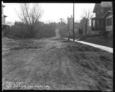 Street Improvement Photographs -- Box 35, Folder 14 (Faber Avenue) -- negative, 1930-02-21
