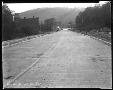 Street Improvement Photographs -- Box 35, Folder 15 (Fairbanks Avenue) -- negative, 1927-10-11