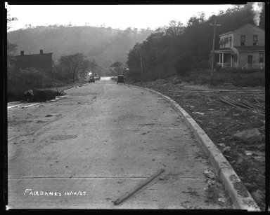 Street Improvement Photographs -- Box 35, Folder 16 (Fairbanks Avenue) -- negative, 1927-10-10
