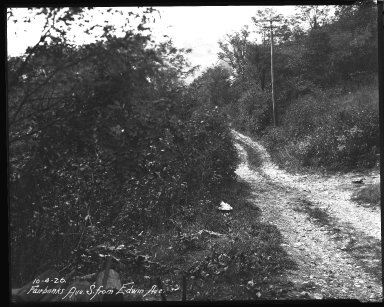 Street Improvement Photographs -- Box 35, Folder 16 (Fairbanks Avenue) -- negative, 1926-10-04