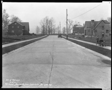 Street Improvement Photographs -- Box 35, Folder 17 (Fairhurst Avenue) -- negative, 1932-02-04