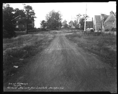 Street Improvement Photographs -- Box 35, Folder 17 (Fairhurst Avenue) -- negative, 1931-10-15