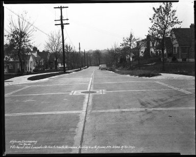 Street Improvement Photographs -- Box 35, Folder 18 (Fairhurst Avenue) -- negative, 1941-10-30