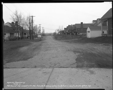 Street Improvement Photographs -- Box 35, Folder 18 (Fairhurst Avenue) -- negative, 1941-03-20