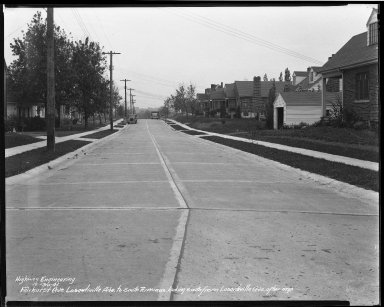 Street Improvement Photographs -- Box 35, Folder 18 (Fairhurst Avenue) -- negative, 1941-10-31