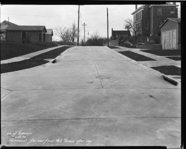 Street Improvement Photographs -- Box 35, Folder 19 (Fairmount Avenue) -- negative, 1932-01-25