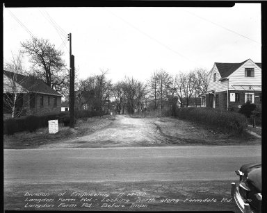 Street Improvement Photographs -- Box 35, Folder 21 (Farmdale Avenue) -- negative, 1952-11-14