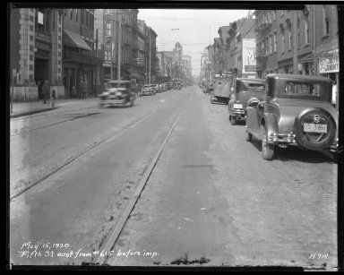 Street Improvement Photographs -- Box 35, Folder 27 (Fifth Street) -- negative, 1929-05-15