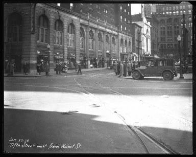 Street Improvement Photographs -- Box 35, Folder 28 (Fifth Street) -- negative, 1928-01-22