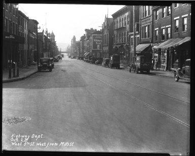 Street Improvement Photographs -- Box 35, Folder 29 (Fifth Street) -- negative, 1929-10-02