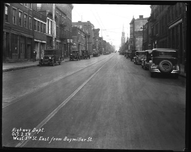 Street Improvement Photographs -- Box 35, Folder 29 (Fifth Street) -- negative, 1929-10-02