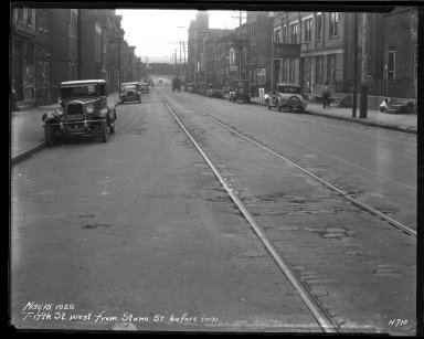 Street Improvement Photographs -- Box 35, Folder 30 (Fifth Street) -- negative, 1929-05-15