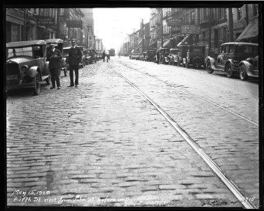 Street Improvement Photographs -- Box 35, Folder 30 (Fifth Street) -- negative, 1929-05-15